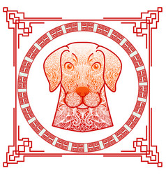 chinese new year 2018 year of dog design the dogs vector image