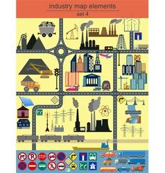 City map elements design vector