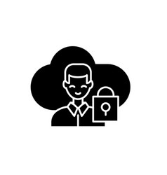 cloud communications black icon sign on vector image