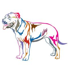 Colorful decorative standing portrait of ca de vector