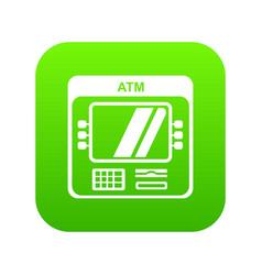 Computer icon green vector