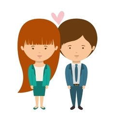 Couple dressed formal style in love vector