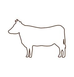 cow animal farm icon vector image