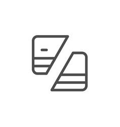 credit card deactivation line icon vector image