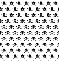 Crossbones and skull pattern vector