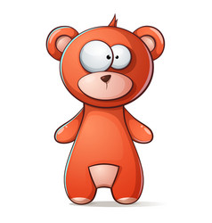 Cute funny brown bear grizzly teddy vector