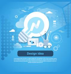 Design idea web development template banner with vector