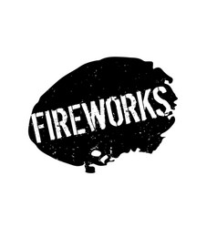 Fireworks rubber stamp vector