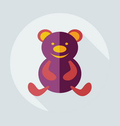 Flat modern design with shadow icons toys vector