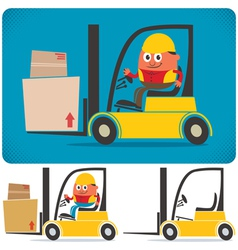 Forklift Driver vector image