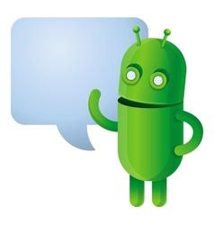 Funny green robot vector image