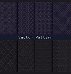 geometric luxury pattern collection design vector image