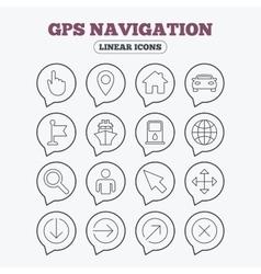 GPS navigation icons Car and Ship transport vector image