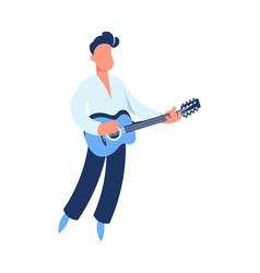 guitar player cartoon guitarist playing music vector image
