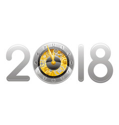 happy new year 2018 merry christmas flyer vector image