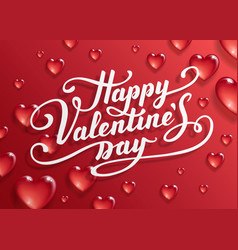 happy valentine s day text vector image
