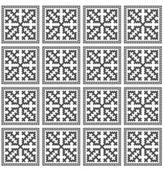 hmong pattern seamless texture background gray vector image