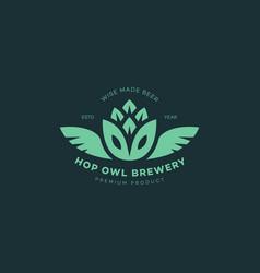 Hop owl logo vector