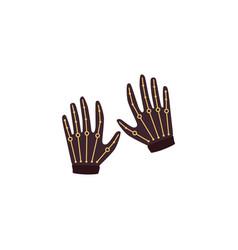 Icon thin wireless virtual reality gloves vector