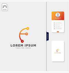 initial f logo template and inspiration free vector image