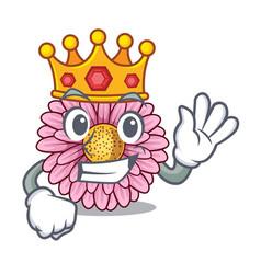King gerbera flowers in the cartoon shape vector