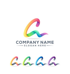 letter a logo design for your company vector image