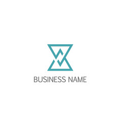 line triangle business logo vector image