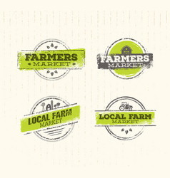 Local farm logo local farm food concept local vector