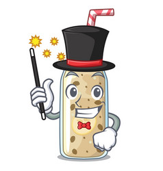 Magician sweet banana smoothie isolated on mascot vector
