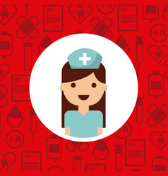 Medical nurse woman vector