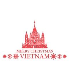 Merry Christmas Vietnam vector image