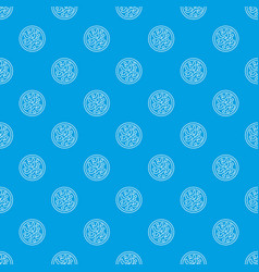 microscopic bacteria pattern seamless blue vector image