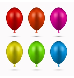 modern balloons set on white vector image