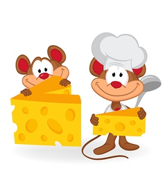 Mouse cook with cheese vector