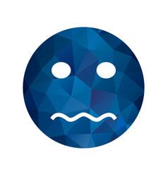 Nervous emoji icon vector