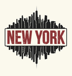 new york city graphic t-shirt design tee print vector image