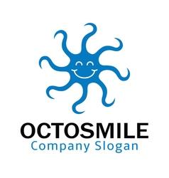 Octo Smile Design vector