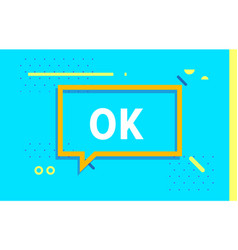 Ok in design banner template for web vector