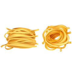 Pasta noodles on white background vector