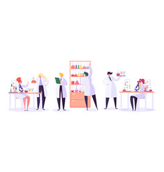 pharmaceutic laboratory research concept vector image