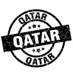 Qatar black round grunge stamp vector