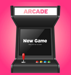 Realistic detailed 3d arcade game machine vector