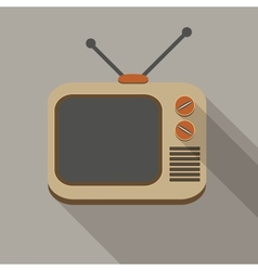 Retro TV set icons vector