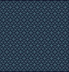 seamless pattern blue circles geometric flower vector image