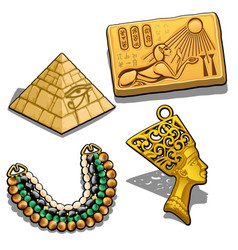 set attributes and jewelry on theme of vector image