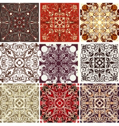 set of 9 textures vector image