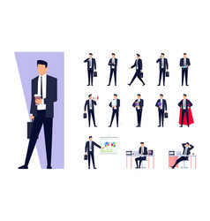 set of business characters isolated on white vector image