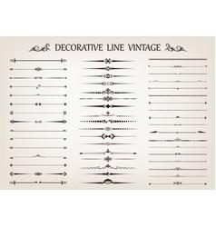 set of vintage line vector image