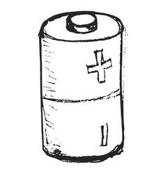 Sketch round battery vector