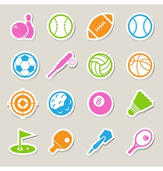 Sports Icons set EPS10 vector image